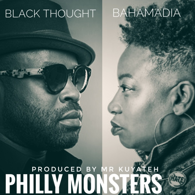 "An Imaginary remix ft Black Thought & Bahamadia called ""Philly Monsters"""